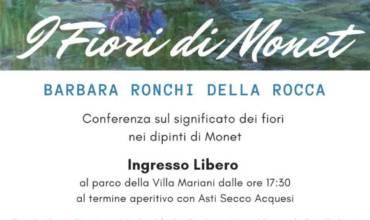 """"""" I Fiori di Monet"""" a Villa Mariani il 21 Agosto."""