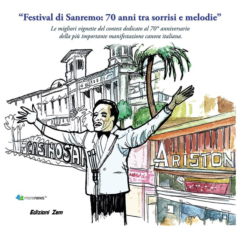 Dal 23 gennaio in libreria il catalogo con i migliori disegni dedicati al 70° anniversario del Festival della canzone